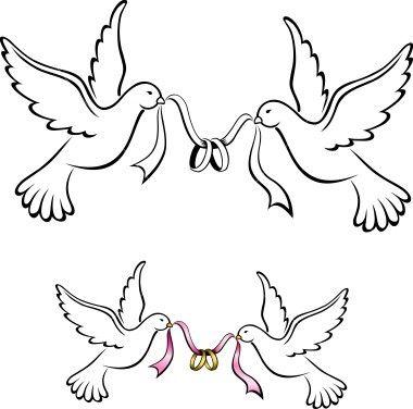 Wesele Rysunki Szukaj W Google Wedding Wedding Doves Couple Drawings