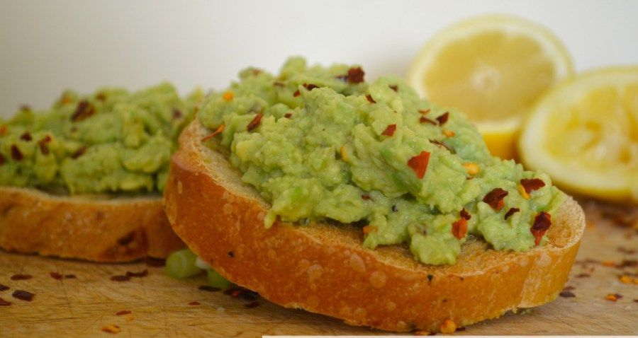 aCreamy avocado, sharp lemon and fiery chilli make the perfect partner for crisp toast!