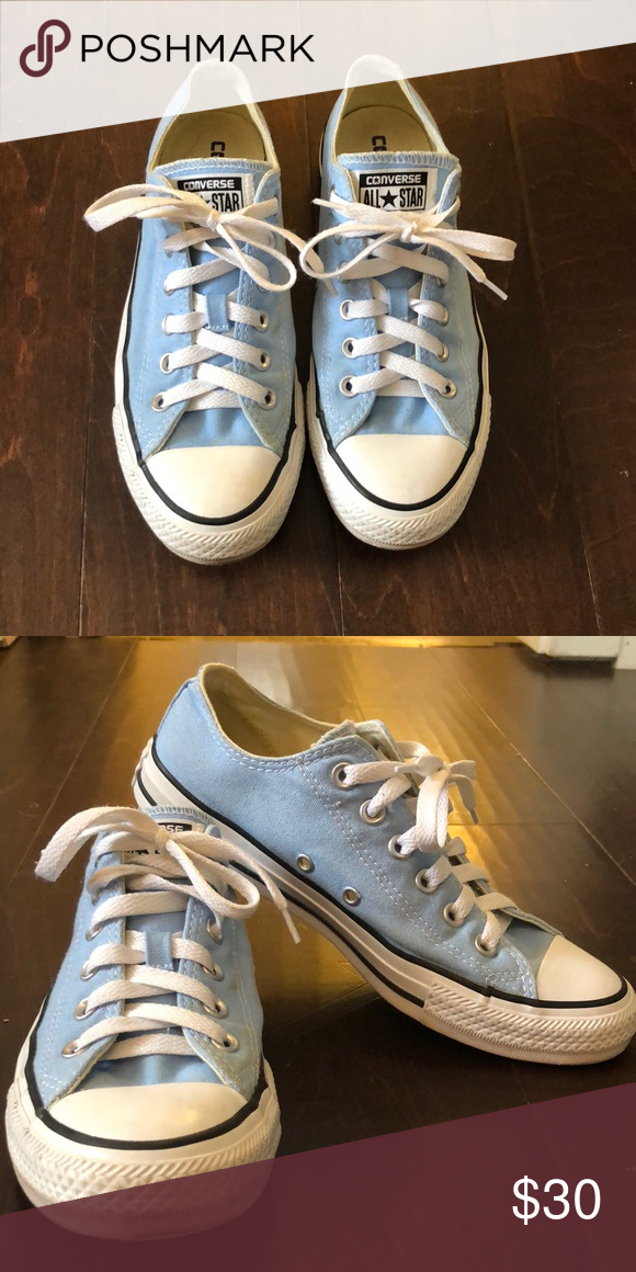 072307a82222 Low-top Converse How cute are the Converse  The light blue makes these  sneakers