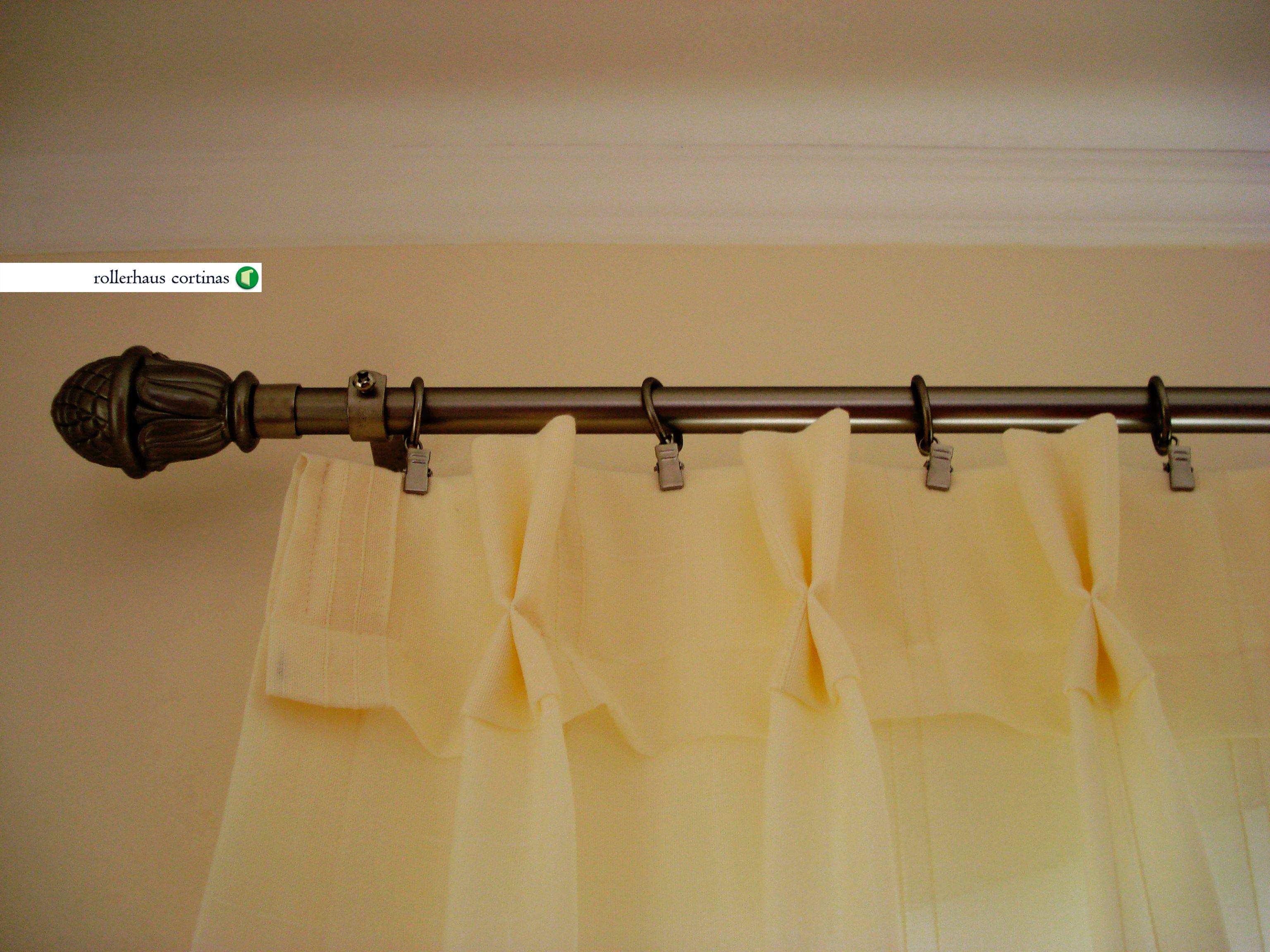 Todos los tipos de sistemas para cortinas de tela con for Como poner ganchos cortinas