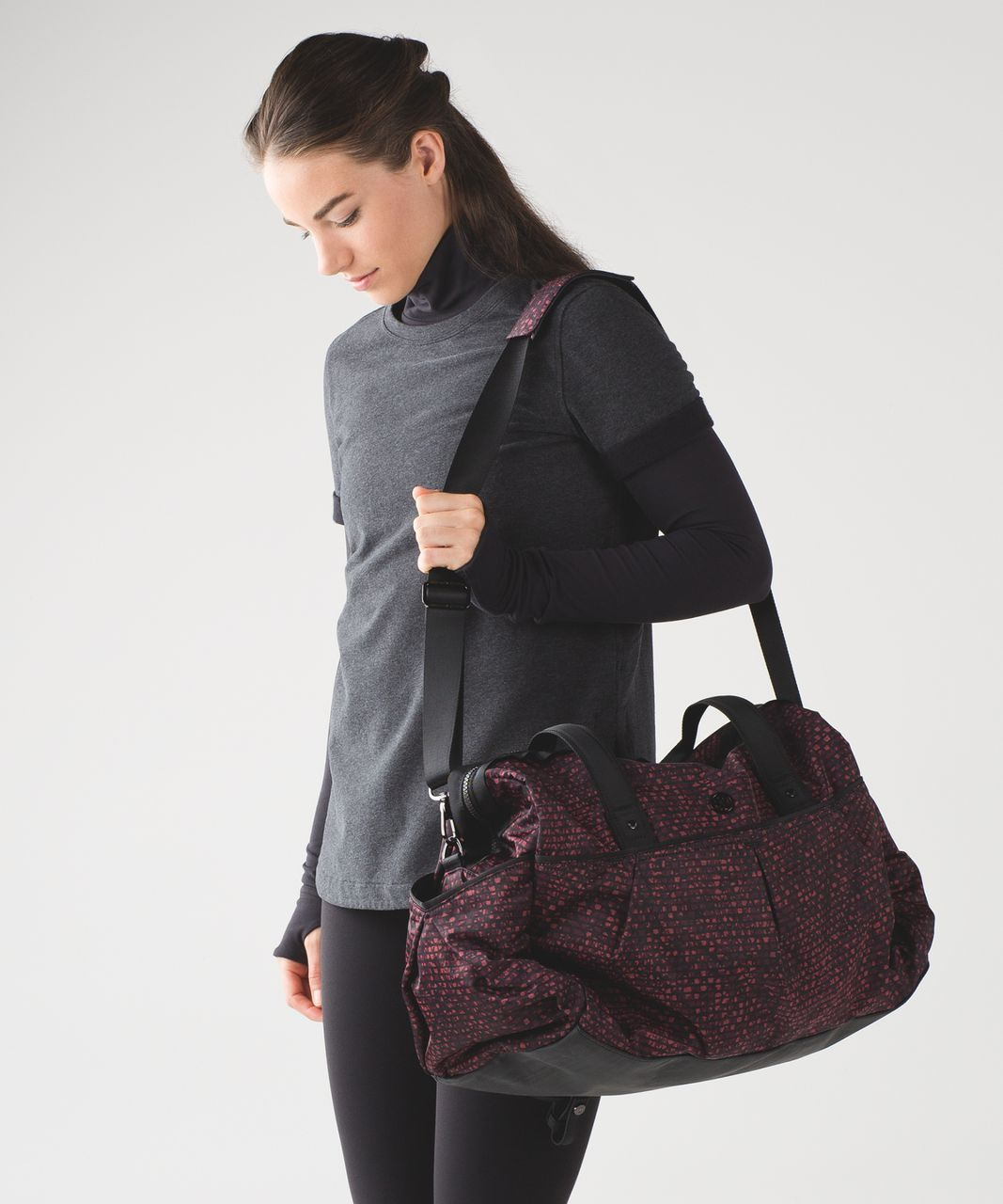Aryana Starr Pictures Amazing lululemon all day duffel (heat) - shatter weave dust coral plum