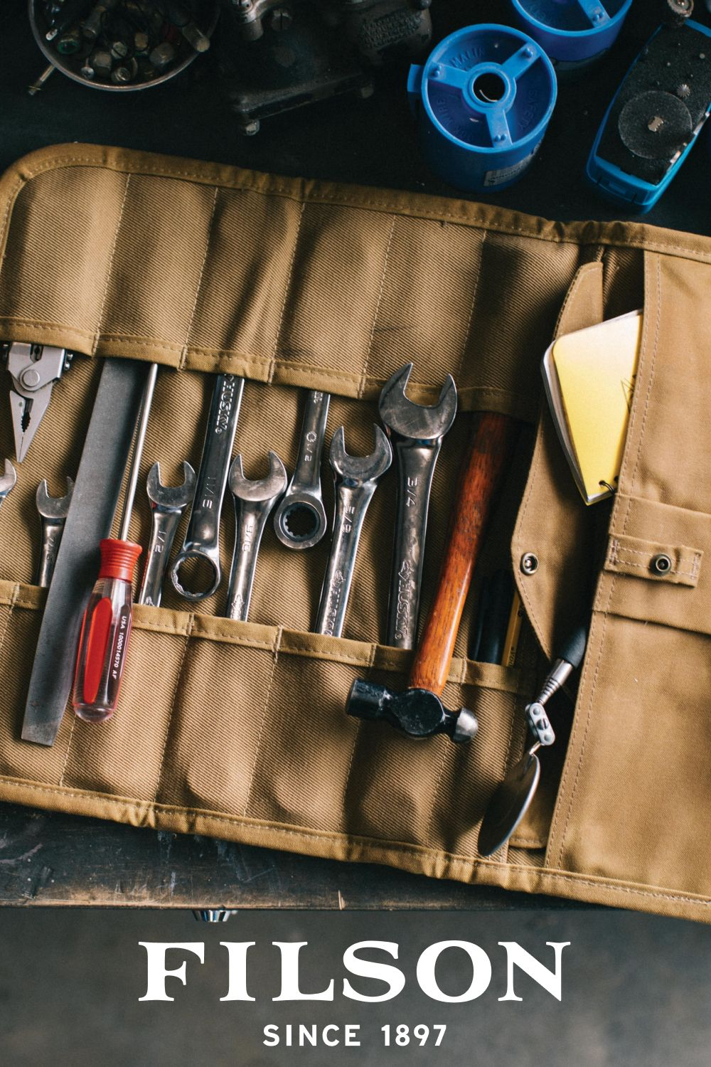 Rugged Twill Tool Roll In 2020 Leather Tool Roll Leather Tool Kits Tooled Leather Bag