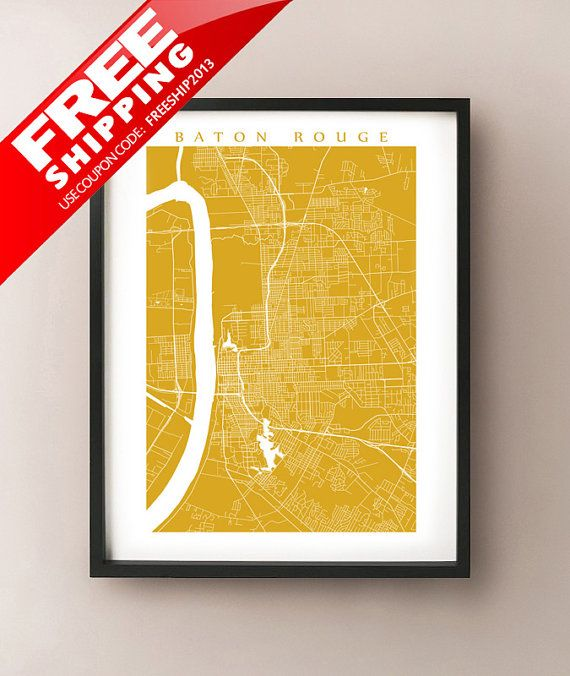 Baton Rouge City Map More Sizes and Colors by CartoCreative ...
