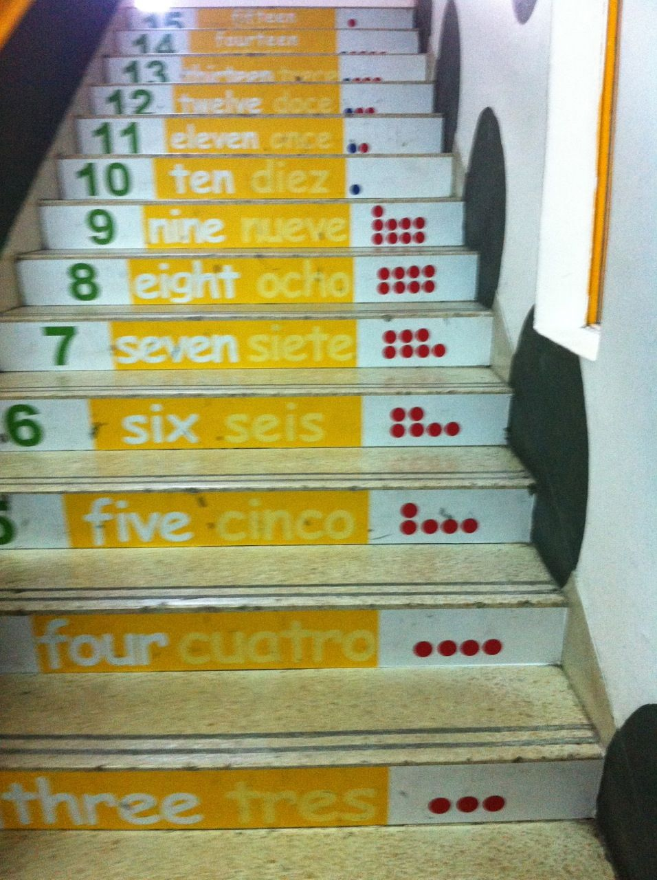 lovely counting stairs from one of our SEK learning space project ...
