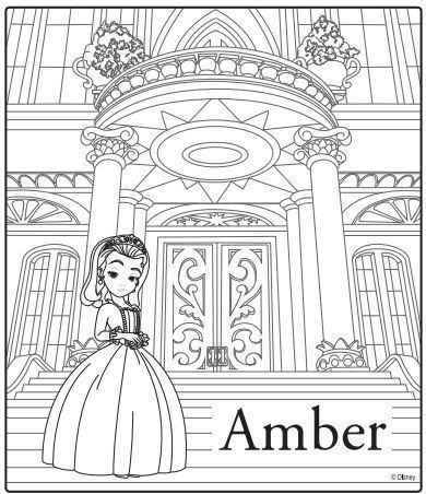 Sofia The First Coloring Page Amber Disney Junior Princess With Images Disney Coloring Pages Printables Disney Coloring Pages Sofia The First