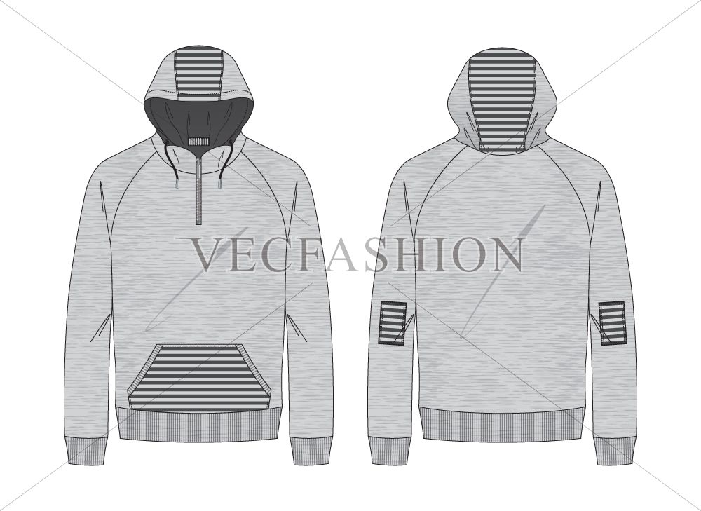 d4d5c46df Melange Gray Pullover Hoodie by VecFashion on Creative Market ...