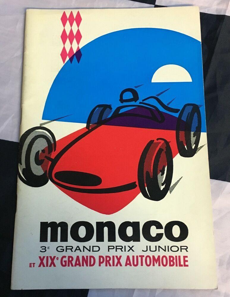 1961 19th Monaco Monte Carlo Gp F1 Race Programme Program Stirling Moss Lotus Monte Carlo Monaco Grand Prix