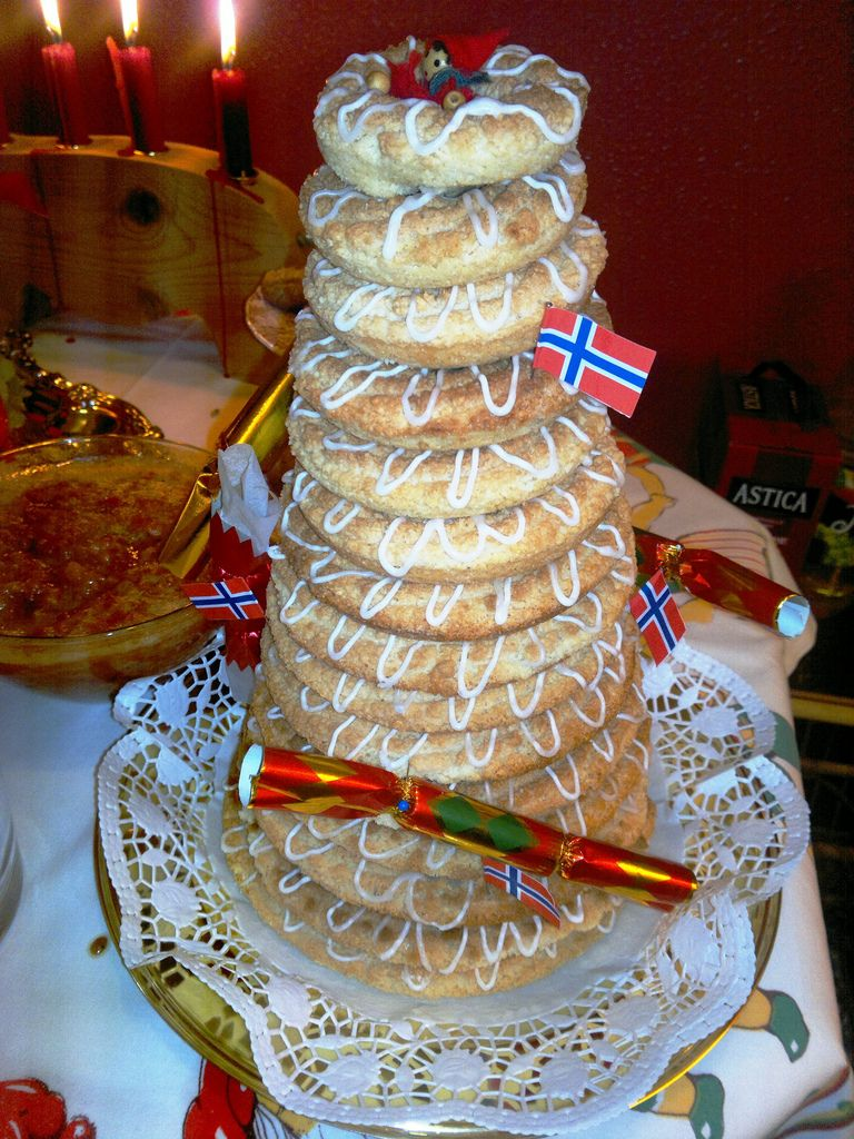 Kransekake as Christmas Traditions in Norway | Norwegian | Pinterest