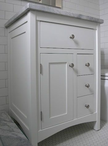 Shaker Style Bathroom Vanity With One Door 24 Inch Bathroom Vanity Bathroom Vanity Makeover Bathroom Styling