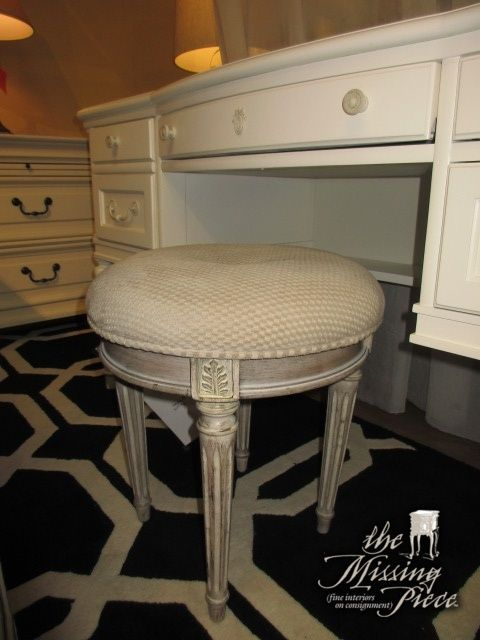 Brilliant Small Button Tufted Vanity Stool In A Taupe Upholstery On Creativecarmelina Interior Chair Design Creativecarmelinacom