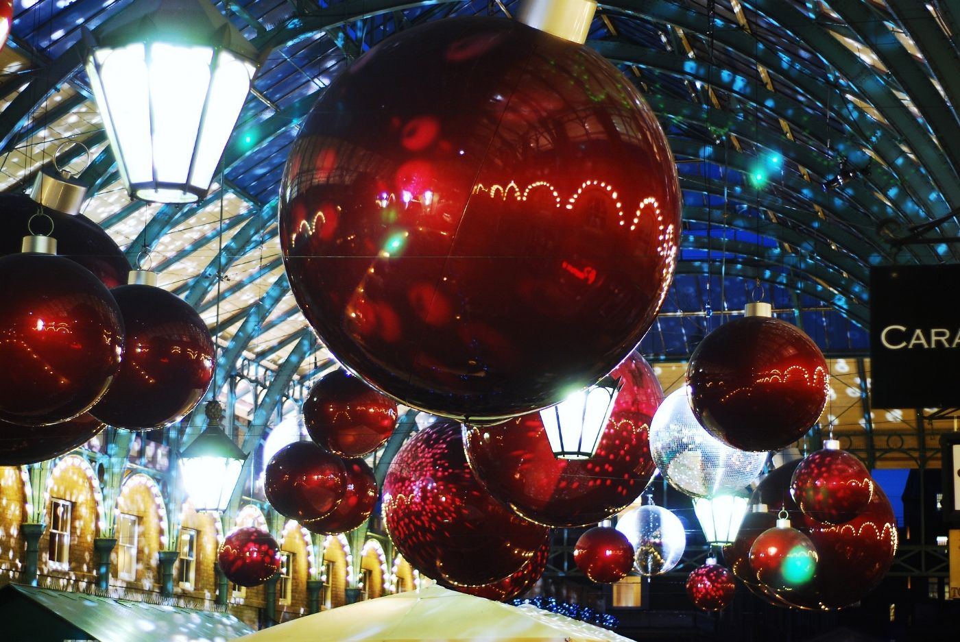 Christmas Decorations in Covent Garden, London