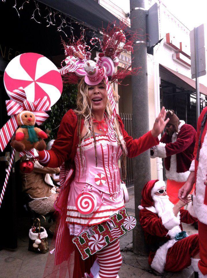 Machen Sie sich Candy CaneKostüm Karneval Kostüme