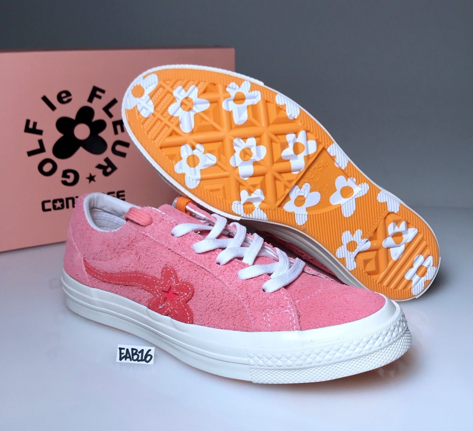 Converse One Star X Golf Wang Le Fleur Suede Geranium Pink Tyler The Creator Hype Shoes Sneakers Golf Wang