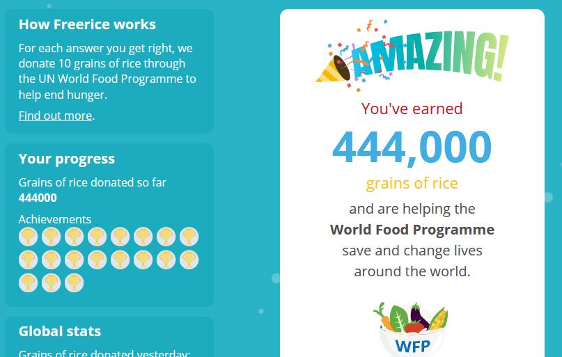 Beta Freerice World Food Programme Wfp Donation World Food Programme Food Laplace