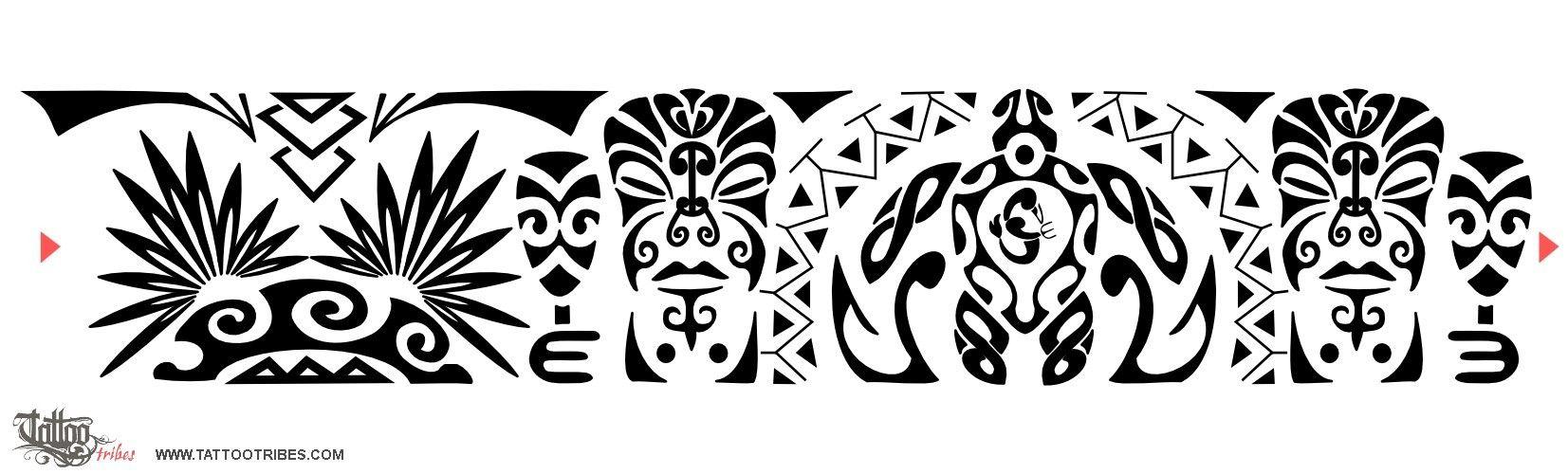 polynesian designs and patterns | Maori Samoan Armband Tattoojpg
