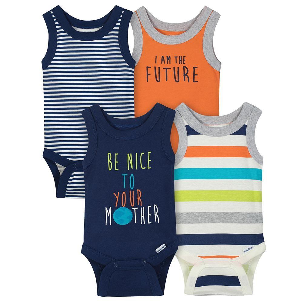 f35332584 4-pack Boys Sleeveless Onesies Bodysuits | Onesies® Brand Bodysuits ...