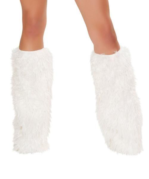 White Mohair Legwarmers