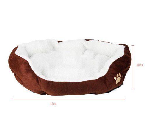 niceEshop Comfortable Pets Dog Cat Puppy Kitten Soft Fleece Bed Pet House Nest Pad Mat Coffee - http://www.thepuppy.org/niceeshop-comfortable-pets-dog-cat-puppy-kitten-soft-fleece-bed-pet-house-nest-pad-mat-coffee/