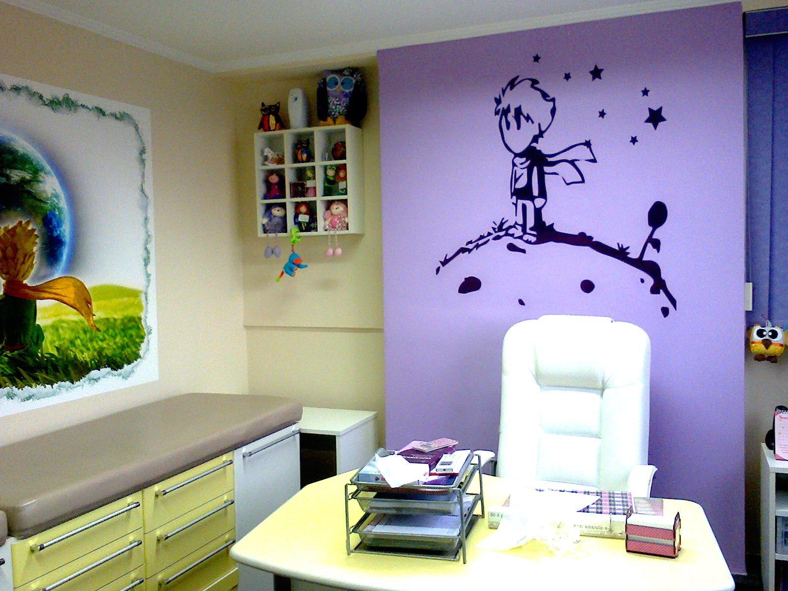logo pintado de consultório - Pequeno Príncipe