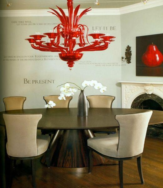 Feuer im modernen Design – rotes Esszimmer | Eszimmer | Pinterest