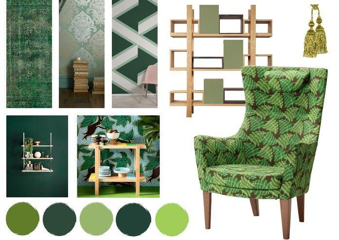Planche d 39 ambiance le vert dans la d co mise en page pinterest les verts planches et la - Planche d ambiance ...