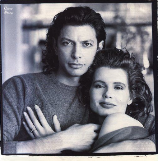 Jeff Goldblum & Geena Davis ~ For A Time  They Looked So Great Together, Both So Tall & Pretty!