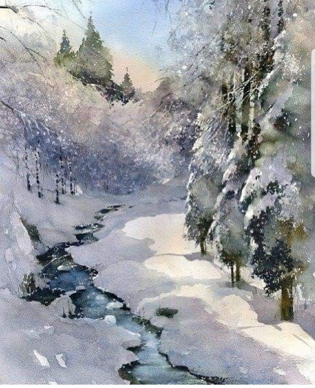 Pin By Kristy Harvey On Vintage Christmas Winter Landscape Painting Winter Landscape Landscape Paintings