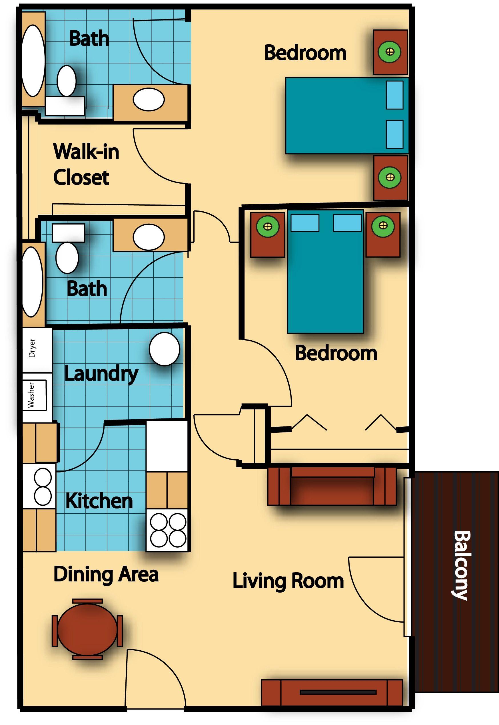 2 bedroom 2 bath 900 sq ft house plans Springbrook