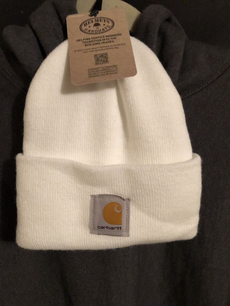 White Carhartt Beanie!!! New With Tags! Nwt  fashion  clothing  shoes   accessories  mensaccessories  hats (ebay link) d05f07ceda12