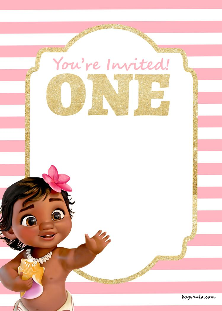 FREE Printable Disney Princess 1st Birthday Invitations Templates Bagvania Invitation Template