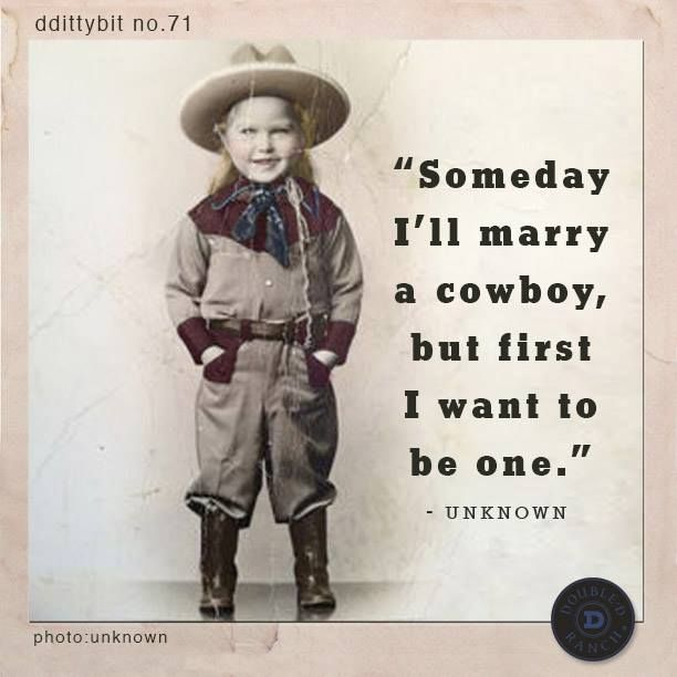 I want to marry a cowboy