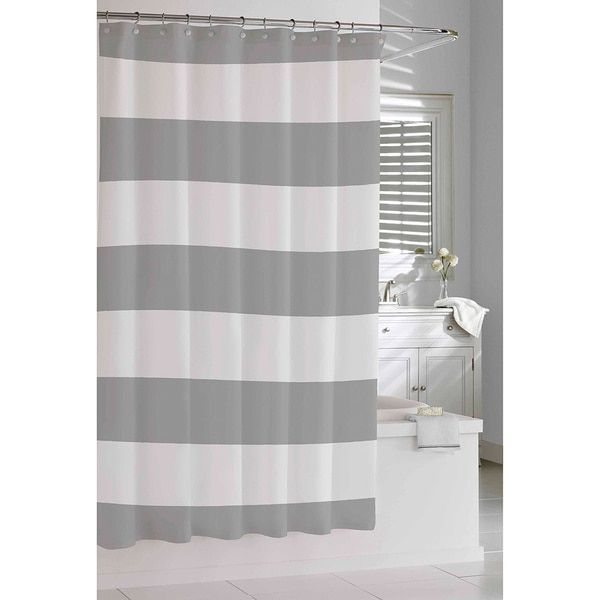 Lovely Coastal Stripe Shower Curtain