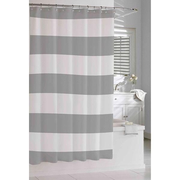 Lovely Coastal Stripe Shower Curtain