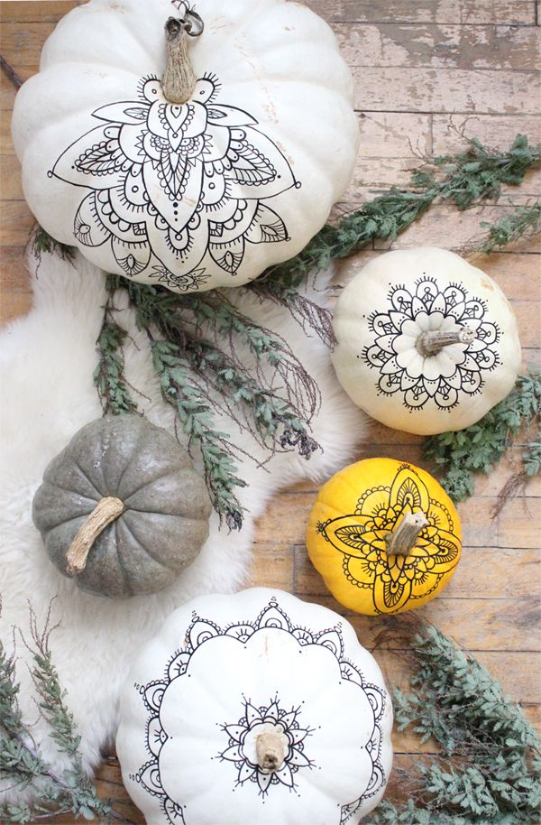 Henna Pumpkins DIY - A Boho Halloween Free Henna Template Download