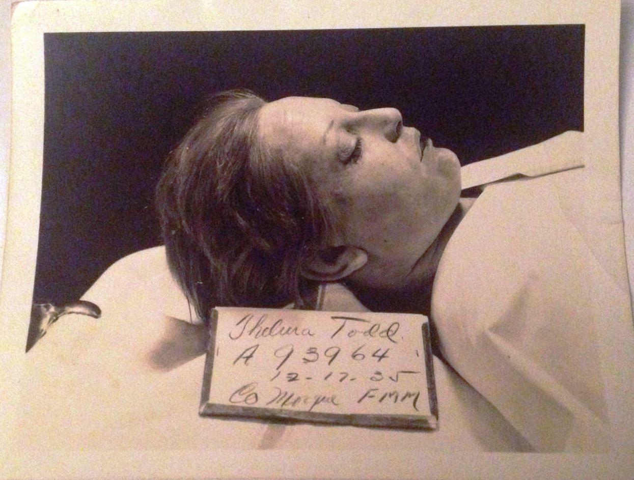 Thelma Todd at the morgue