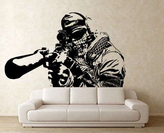 Wall Art Stickers Vector : Call of duty half body vinyl wall art decal wd by