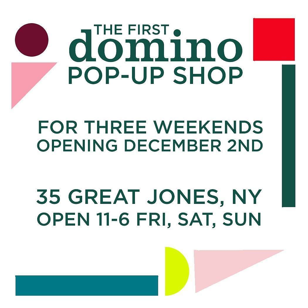 Just in time for the holidays, join us at domino\'s very first pop-up ...