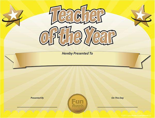 printable certificates for teachers