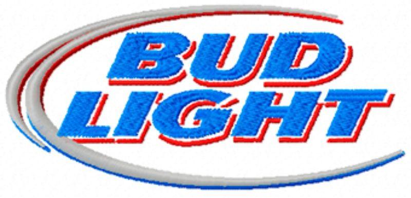 Bud Light Beer Logo Machine Embroidery Design In 5 Sizes Sewing Embroidery Designs Embroidery Designs Machine Embroidery Patterns
