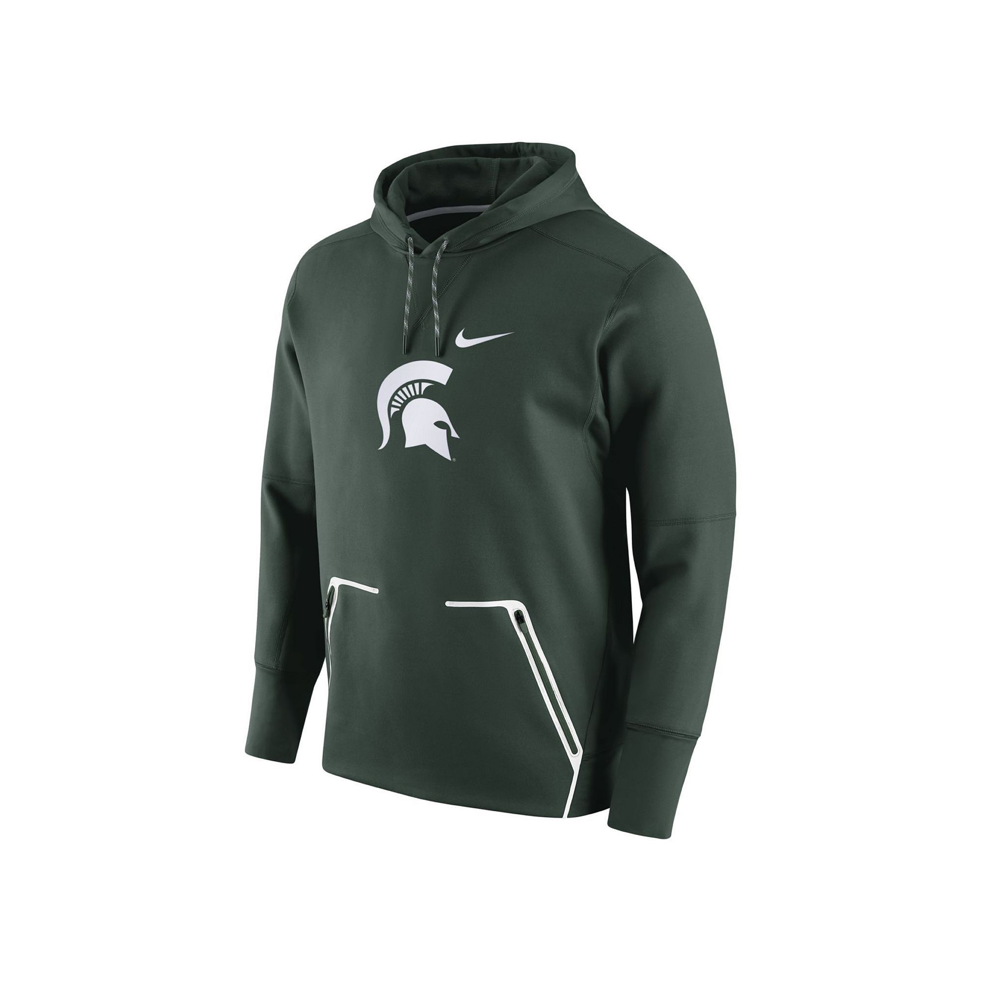 70c06efe938 Men s Nike Michigan State Spartans Vapor Speed Fleece Hoodie
