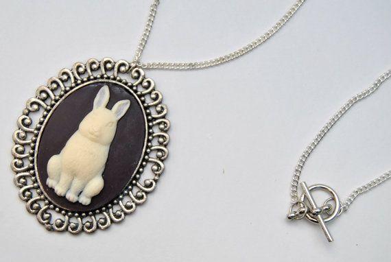 Bunny Cameo Necklace