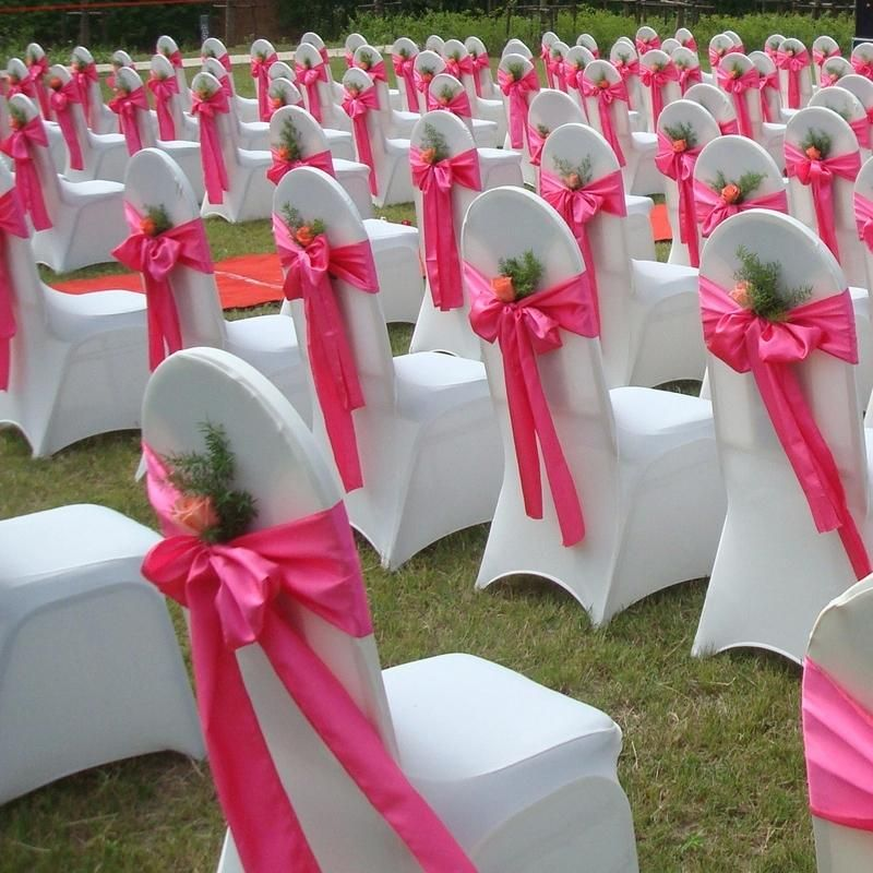 24 Colors Satin Chair Covers Bows Wedding Party Bouquet