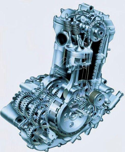 Freelancethink Honda Xr650r Engine Cutaway Engineering Honda Mechanical Engineering