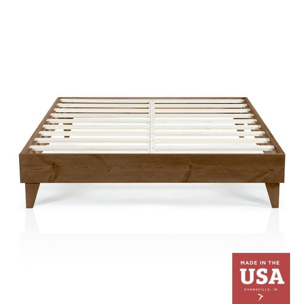 Amazon Com Cardinal Crest Wood Platform Bed Frame King Size Modern Wooden Design Wood Platform Bed Frame King Platform Bed Frame Queen Size Bed Frames King bed frame for sale
