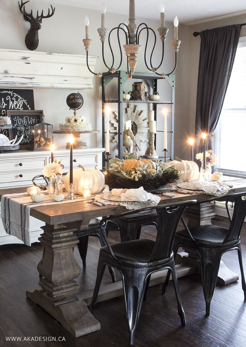How To Create A Layered Fall Table Setting Fall Dining Room Autumn Dining Home Decor
