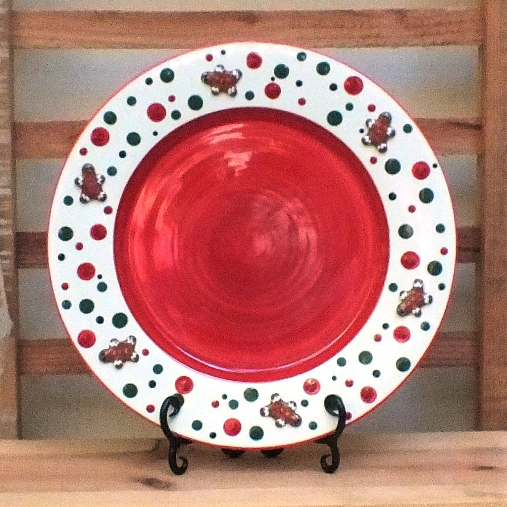 Ginger Spice Platter:  Red  ~ Ginger Spice Collection