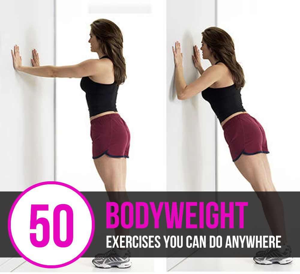 50 Bodyweight Exercises You Can Do Anywhere #finess