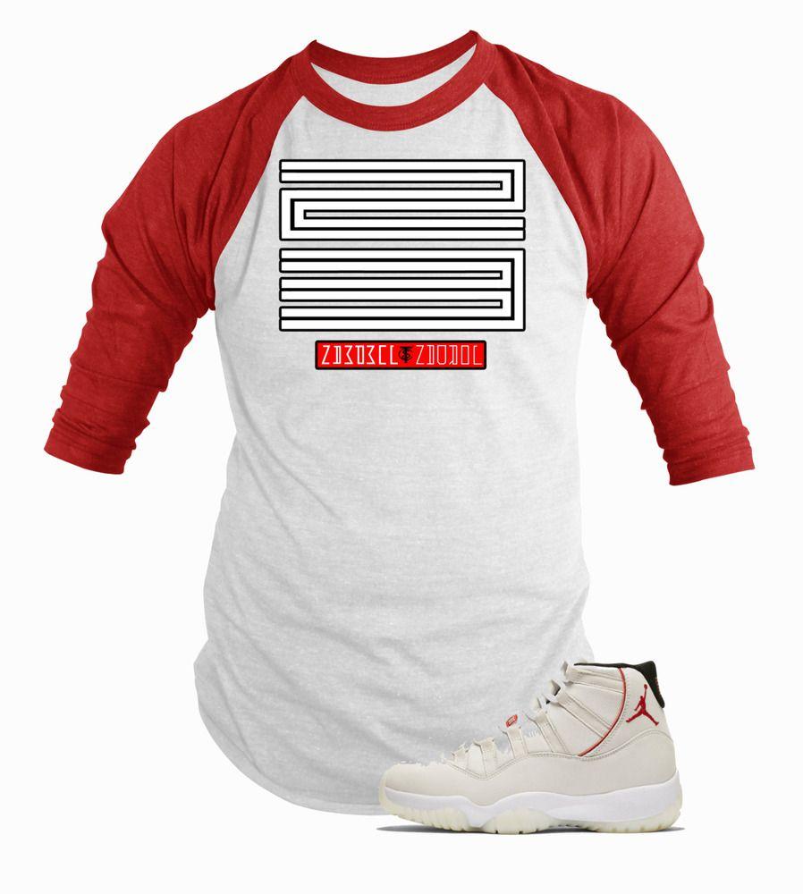 f044ec07440f Retro air jordan platinum tint 11s matching 3 4 sleeve raglan baseball shirt   fashion  clothing  shoes  accessories  unisexclothingshoesaccs ...