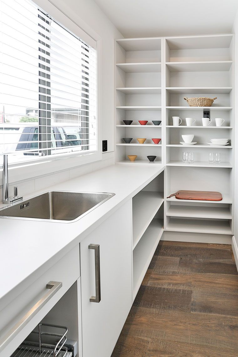 This Scullery Has A Large Benchtop For Working And Prepping Food And A Large Sink Kitchen Pantry Design Open Plan Kitchen Living Room Pantry Design