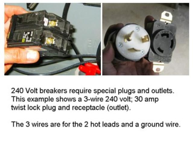 Installing A 240 Volt Circuit Breaker For A 30 Amp Appliance Outlet Breakers Circuit Installation
